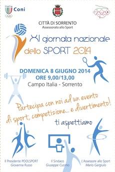 Al campo Italia si celebra la Giornata Nazionale dello Sport