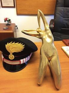 Ritrovata la statua rubata in un hotel di Capri