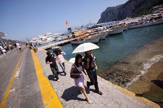 Tassa di sbarco, Comune di Capri contro charter penisola sorrentina