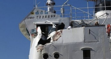 Collisione nel golfo tra due navi