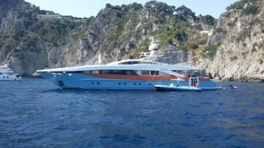 Alex Del Piero in vacanza a Positano