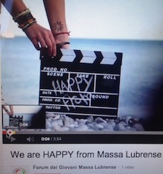 "Da oggi anche Massa Lubrense ha il video ""Happy"""