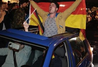 Mondiali, tedeschi in festa anche per le strade di Sorrento