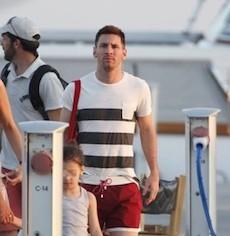 Leo Messi in vacanza in Costiera