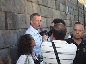 Il sindaco di New York, Bill De Blasio in vacanza a Capri