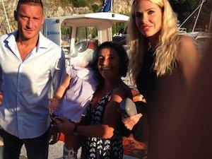 La famiglia Totti in vacanza a Capri