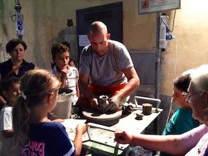 Un corso di ceramica per i bambini di Sorrento