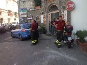 In fiamme una centralina dell'Enel a Sant'Agnello: intervengono i vigili del fuoco