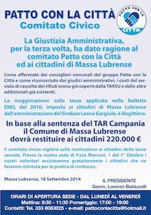 """Nuova sentenza del Tar: """"Il Comune di Massa Lubrense deve rimborsare la maggiorazione Enel"""""""