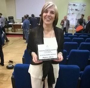 """L'attrice Tina Norvello premiata al """"Sele d'Oro Mezzogiorno"""""""