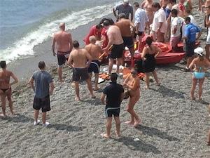 Muore turista inglese sulla spiaggia di Positano