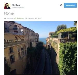 Il dj americano Skrillex in vacanza a Sorrento