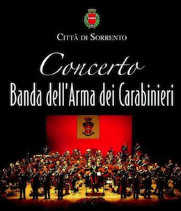 A Sorrento la banda musicale dell'Arma dei Carabinieri