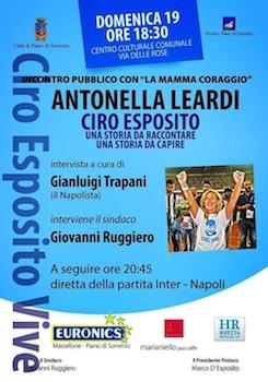 Antonella Leardi, la madre di Ciro Esposito a Piano di Sorrento
