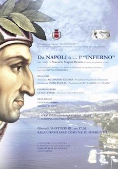"""A Sorrento l'incontro """"Da Napoli a … l'Inferno"""""""