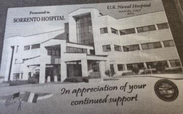 Marinaio salvato all'ospedale di Sorrento: la Marina americana ringrazia