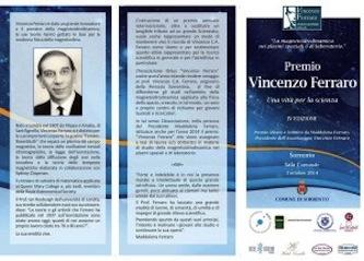 Scienziati a raccolta per la IV edizione del premio Vincenzo Ferraro