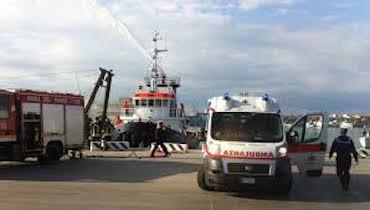 Esercitazione antincendio a Marina di Cassano