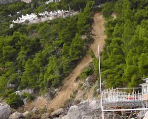 Frana a Marina Piccola, paura a Capri