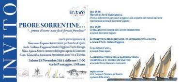 """""""Prore sorrentine"""" a Roma una serata dedicata alla storia della marineria"""