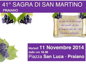 Nella piazza di Praiano la 41esima edizione della sagra di San Martino