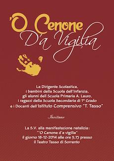 """Domani al Teatro Tasso lo spettacolo """"O' Cenone d'a vigilia"""""""