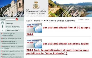 """La lista dei """"poveri"""" pubblicata on line: la gaffe del Comune di Meta"""