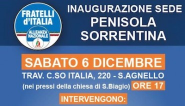A Sant'Agnello inaugura la nuova sede di Fdi-AN