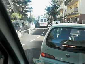Esercitazione protezione civile: traffico bloccato e proteste