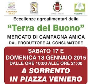 """In piazza Veniero il mercato della """"Terra del Buono"""""""