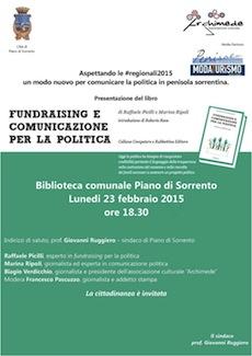 """A Piano la presentazione del libro """"Fundraising e comunicazione per la politica"""""""