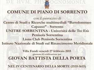 A Piano il ricordo di Giovan Battista della Porta
