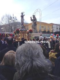 In migliaia a Sorrento per l'omaggio a Sant'Antonino