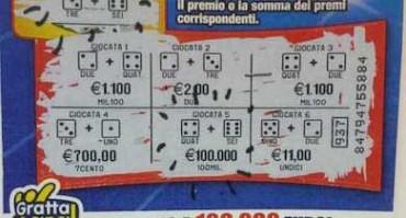 Operaio vince 100mila euro con un Gratta e Vinci