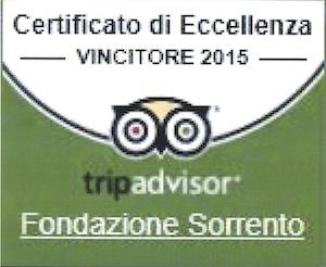 TripAdvisor premia la Fondazione Sorrento