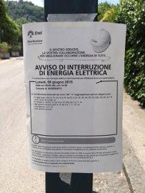 Lunedì niente corrente elettrica in alcune zone di Sorrento