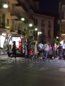 Incidente a Piano di Sorrento, centauro ferito