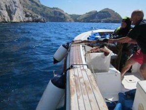 Rete killer recuperata nel mare di Punta Campanella