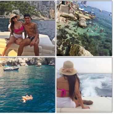 Gita in barca a Capri per Allan e Thais