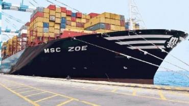 Msc Zoe: varata la portacontainer più grande del mondo