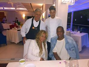 Cena ai Quattro Passi per Beyoncé e Jay Z