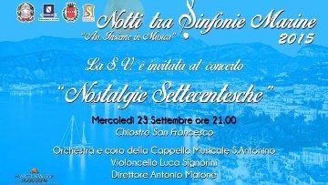 """Il concerto """"Nostalgie Settecentesche"""" si terrà nella Basilica di Sant'Antonino"""