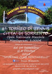 """Iniziato il torneo di tennis """"Città di Sorrento"""""""