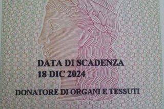 Sulla carta d'identità il consenso alla donazione degli organi