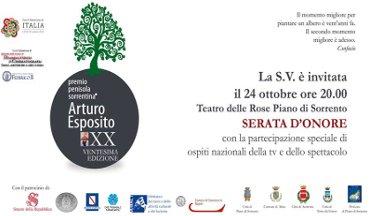 Serata di gala per il Premio Arturo Esposito