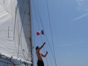 Regata nel Golfo, tutte le barche con bandiere francesi