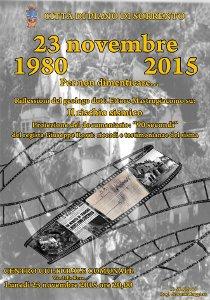 A Piano di Sorrento si ricorda il terremoto dell'80