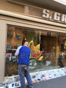 Vetrine artistiche per i negozi di sorrento for Negozi di belle arti milano