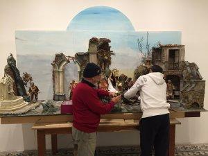 Domani apre l'esposizione di presepi di Villa Fiorentino