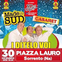 Domani sera I Ditelo Voi in piazza Lauro